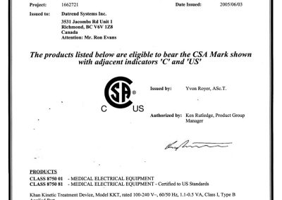 CSA International Certificate of Compliance